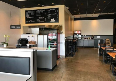Burger restaurant for sale in Hayward shopping center