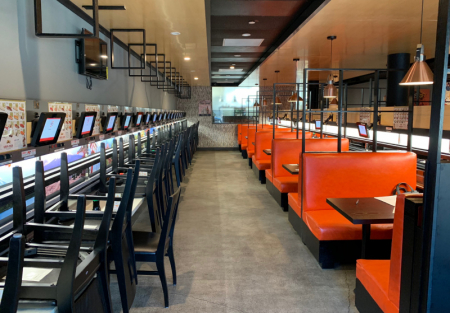 San Francisco first Bullet train sushi restaurant in Japan Town