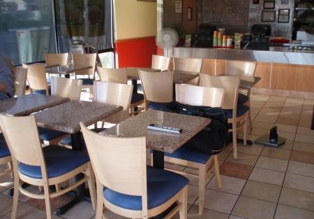 Franchise Hawaiian Bbq Restaurant On Busy Main Street
